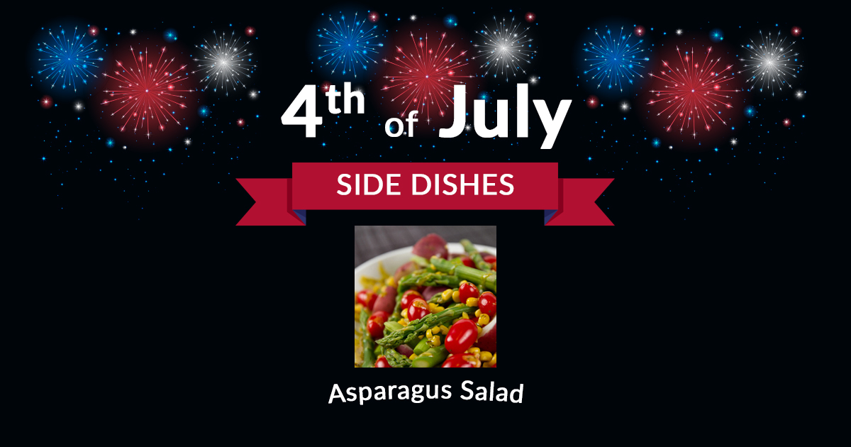 4th of July Side Dish Asparagus Salad