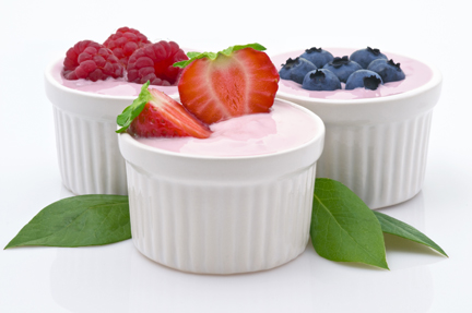 Image of fruit in yogurt that can be used in Fareway recipes.