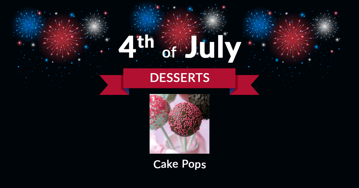 4th of July Dessert Cake Pops