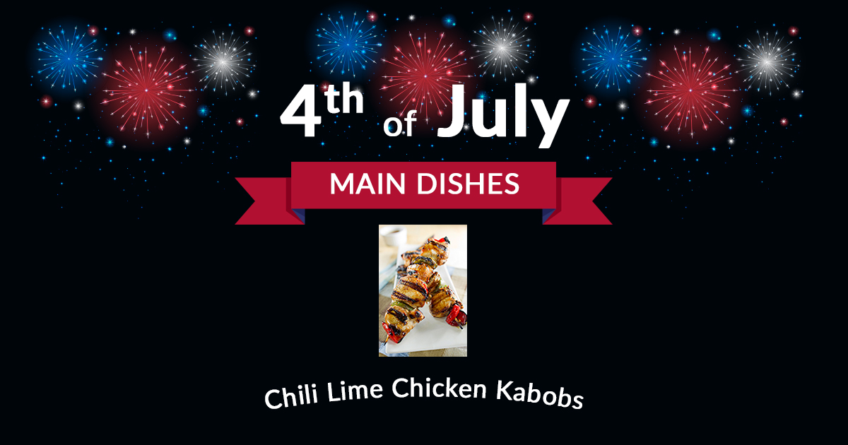 4th of July Chili Lime Chicken Kabobs