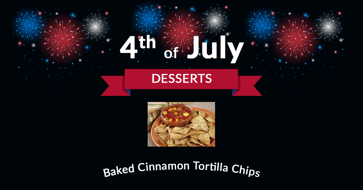 4th of July Dessert Baked Cinnamon Tortilla Chips
