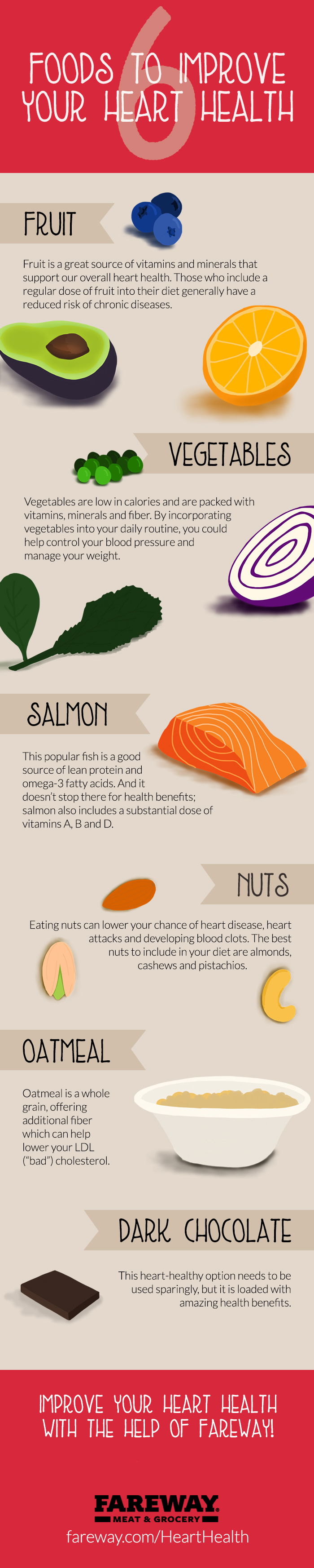Image of the 6 Foods to Improve Heart Health pamphlet.