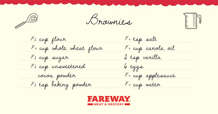 Image of the Brownies Recipe Card.