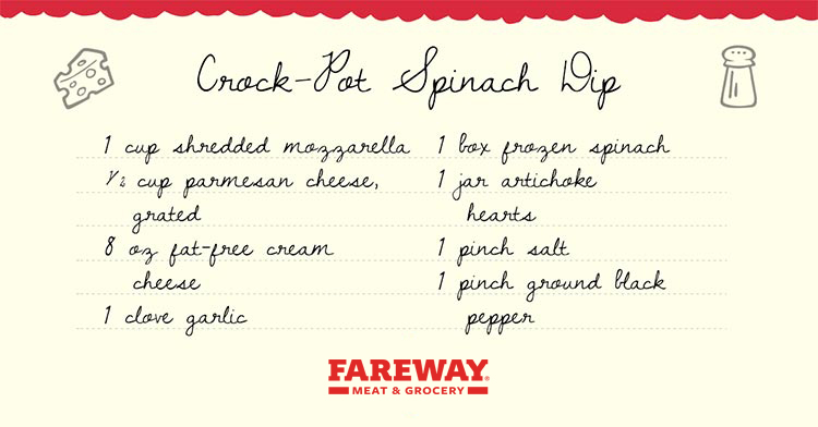 Image of the Crock-Pot Spinach Dip Recipe Card.