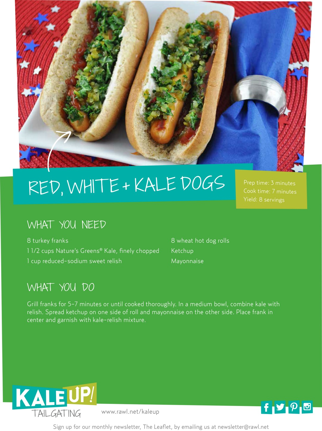 Red, White, and Kale Dogs