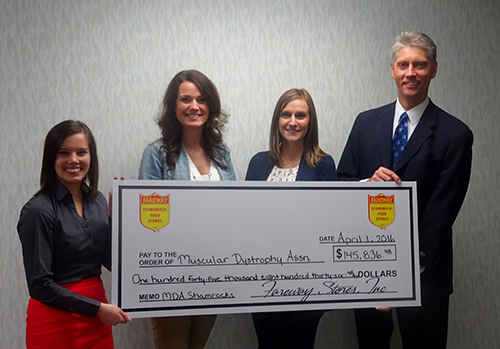 Fareway presents check for MDA