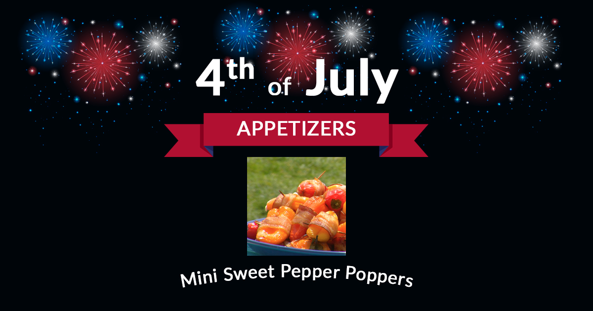 4th of July Appetizers Mini Sweet Pepper Poppers