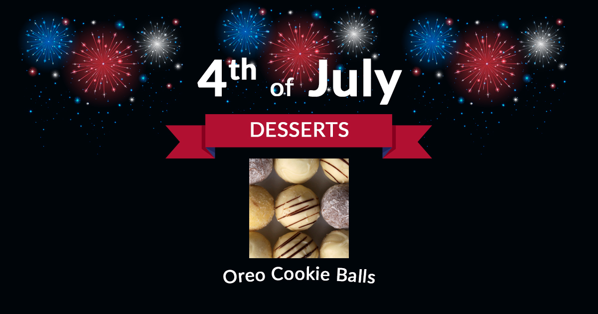 4th of July Dessert Oreo Cookie Balls