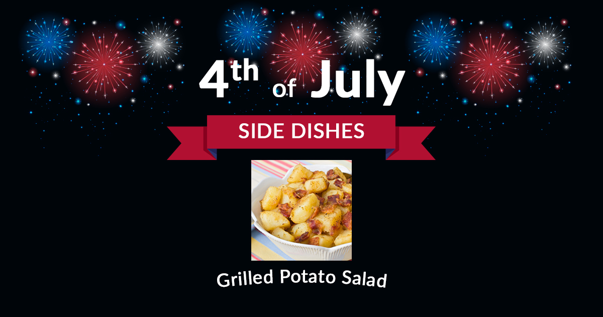4th of July Side Grilled Potato Salad