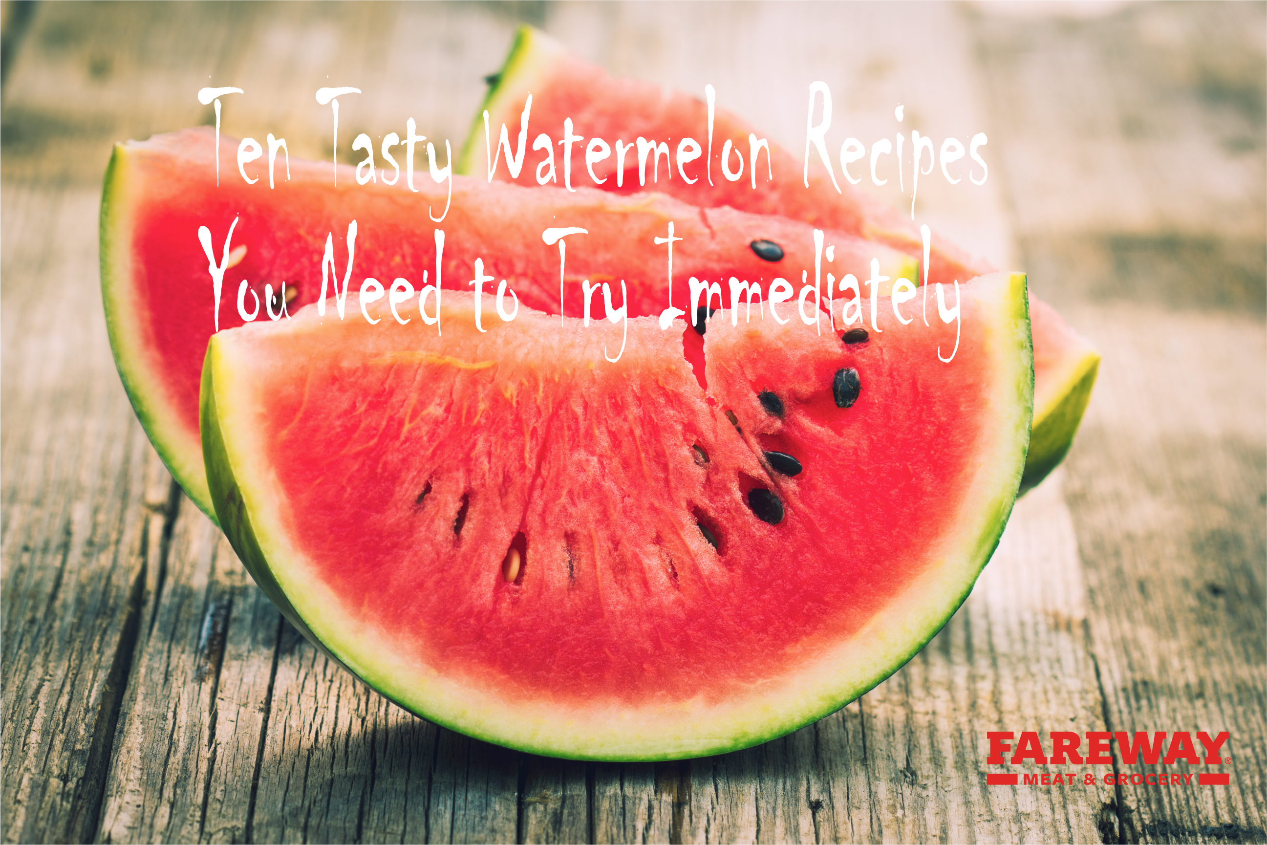 Image of watermelon for a Fareway logo.