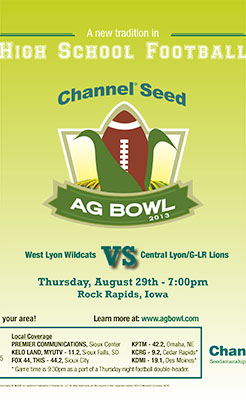 High School Football Ag Bowl Flyer