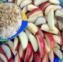 Cinnamon Bun Apple Dip