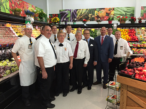 Members of the Fareway staff pose in the newly remodeled Cherokee store