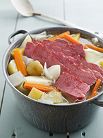 corned beef in a pot