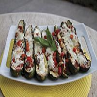 Grilled Stuffed Zucchini Boats