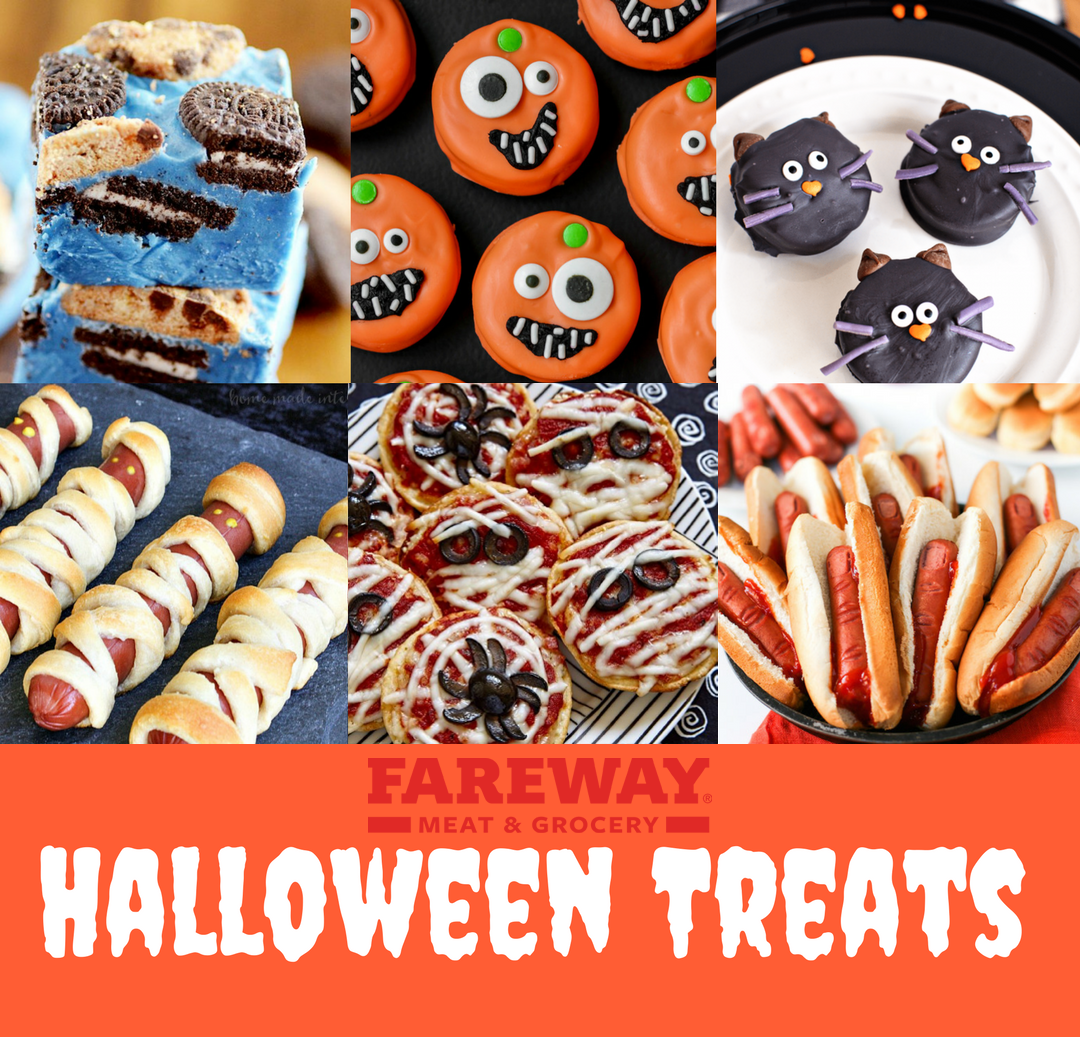 Image of various Halloween treats for a Fareway infographic.