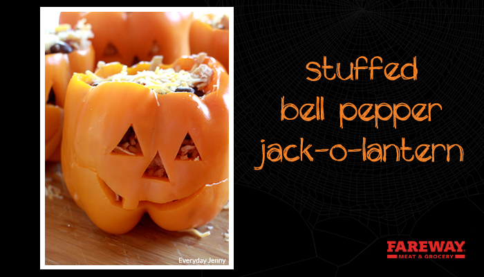 stuffed bell pepper jack o lantern