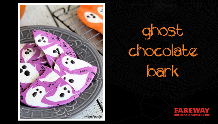 ghost chocolate bark