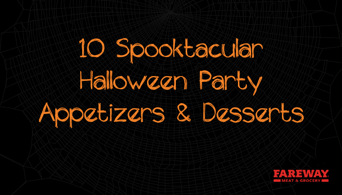 10 Spooktacular halloween party appetizers and desserts