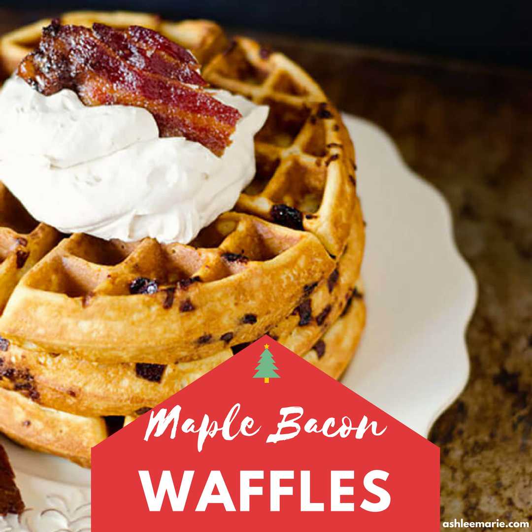 Image of maple bacon waffles.