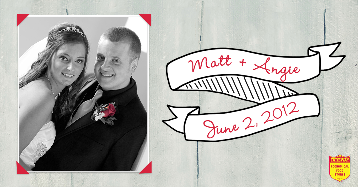 Matt and Angie wedding photo.