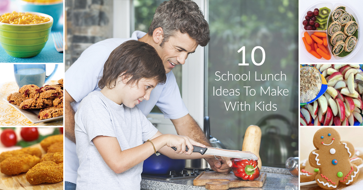 10 School Lunch Ideas to Make with Kids