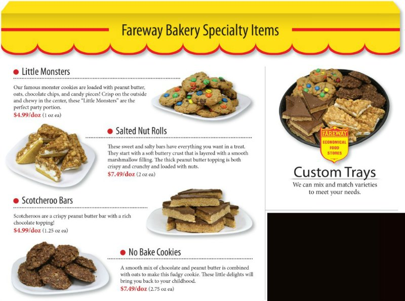 Fareway bakery specialty graduation items.