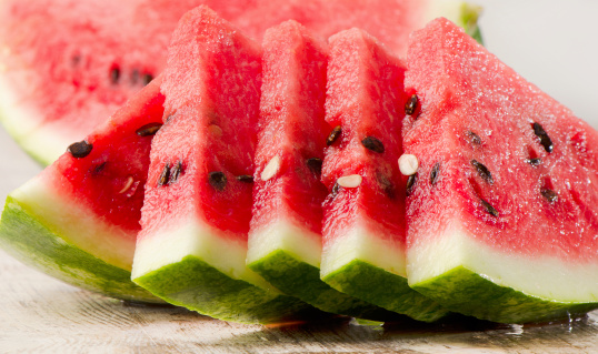 Image of sliced watermelon.