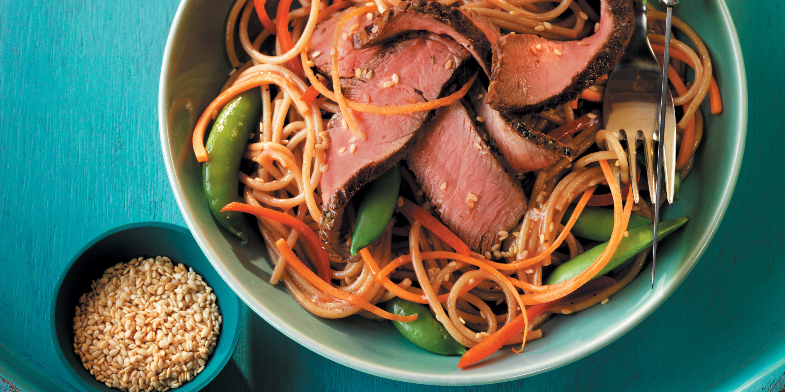 Steak and Asian Noodle Salad