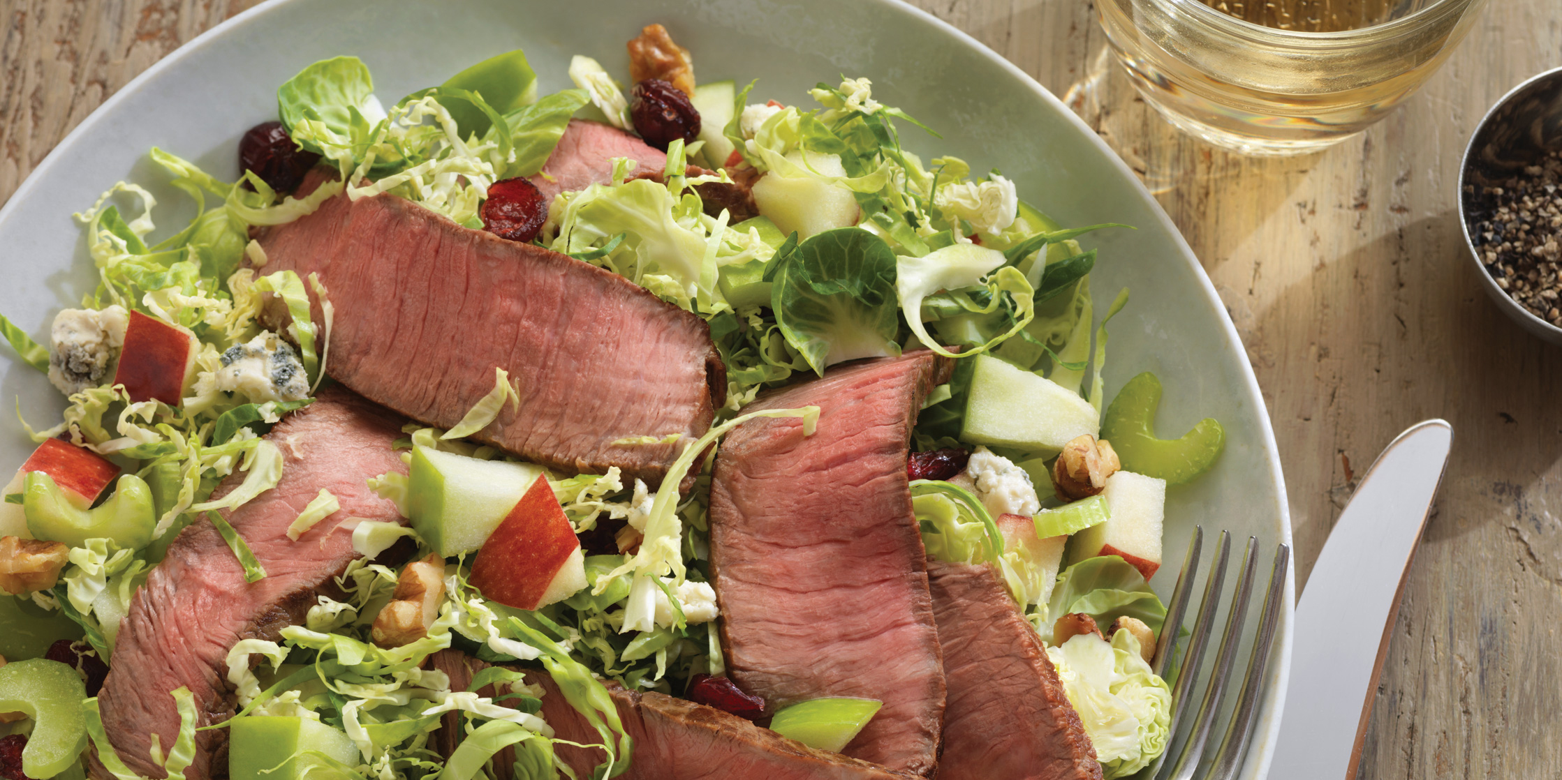 Four Seasons Beef & Brussels Sprout Salad