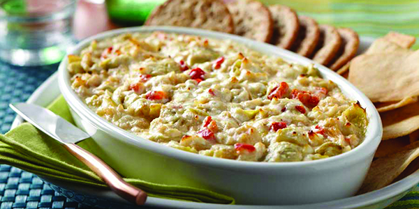 Cheesy Chicken and Artichoke Dip