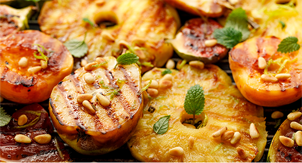 Sauteed Pineapple with Honey and Pine Nuts