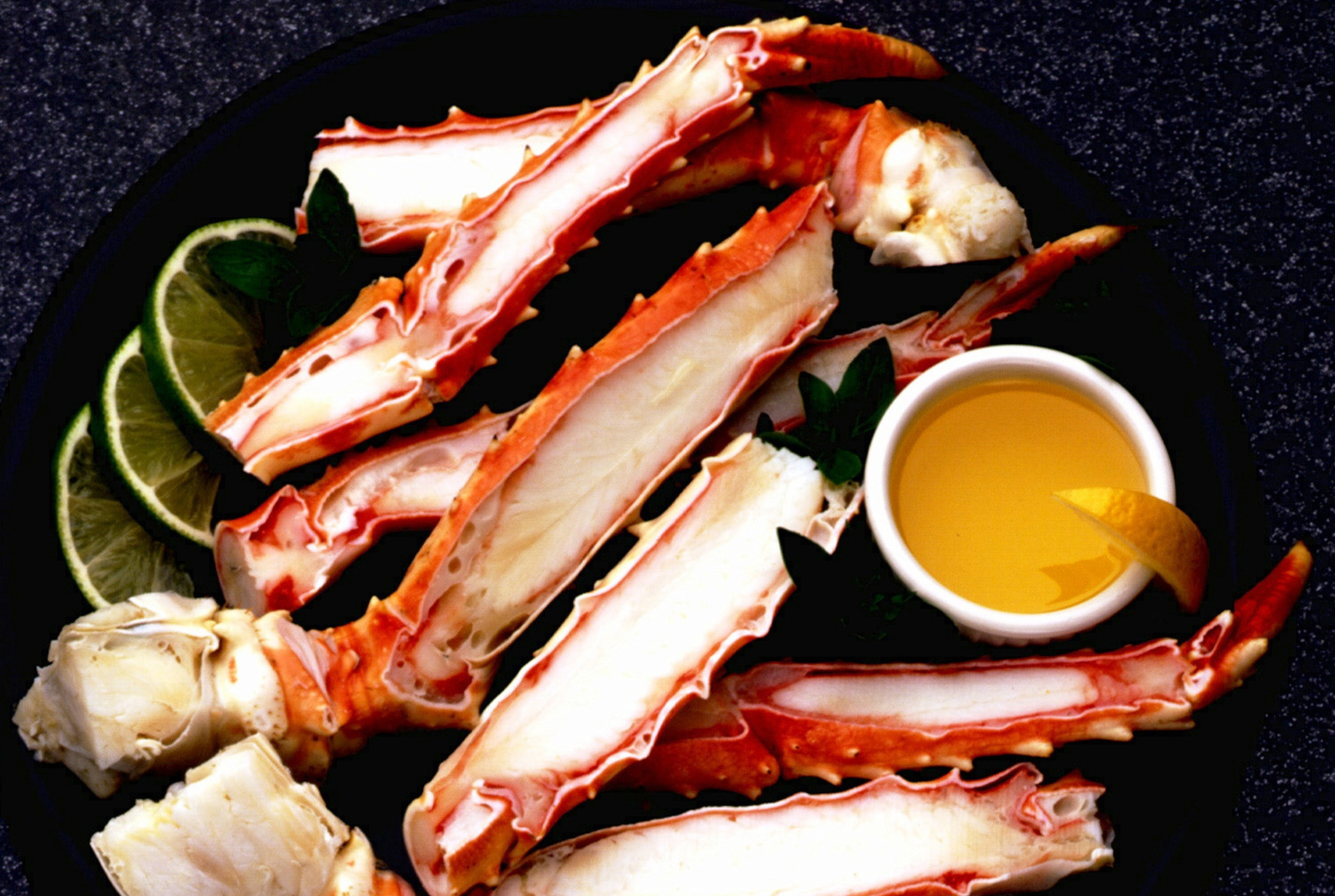 Lemon Basil Crab Legs