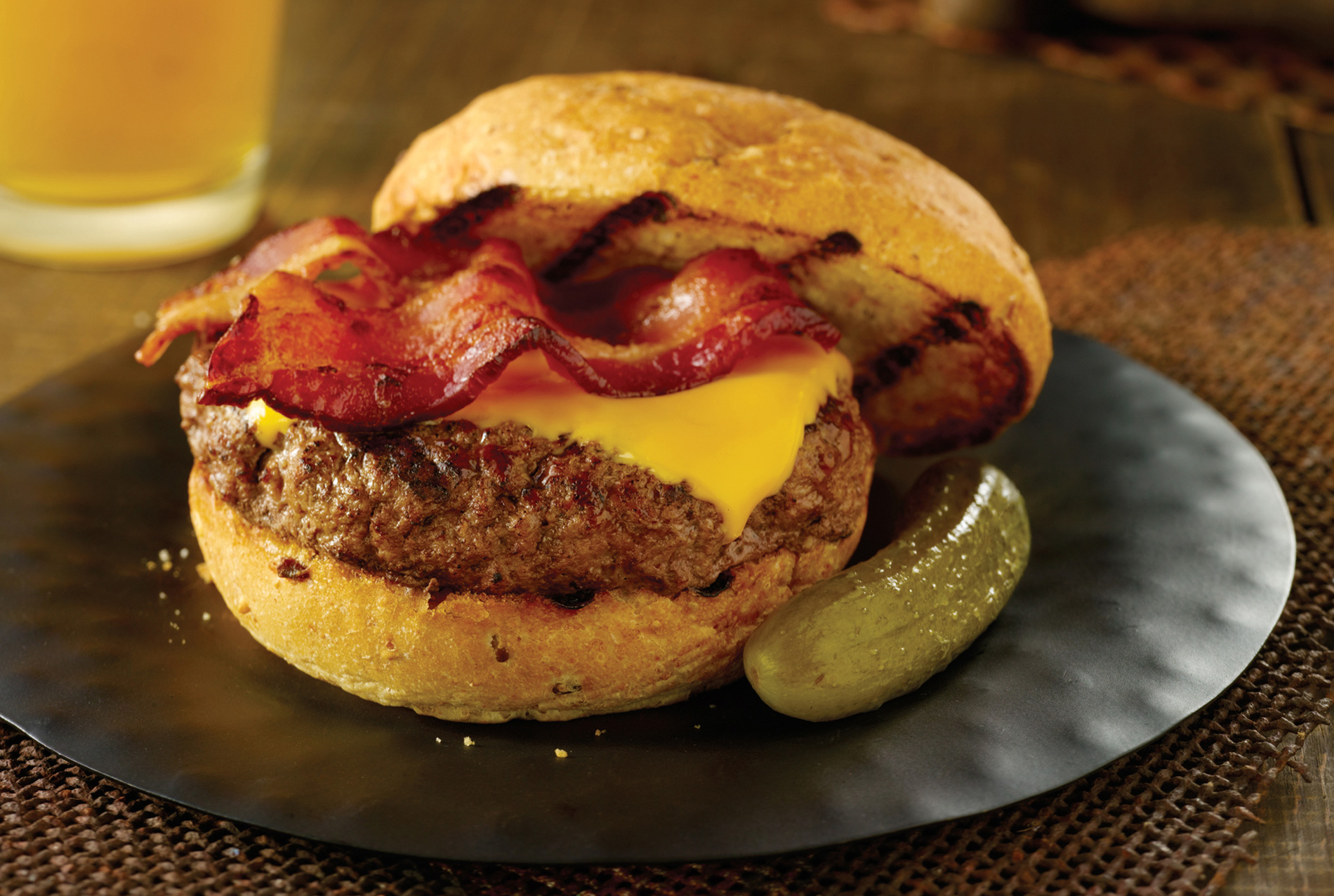 Maple Bacon Beer Burger