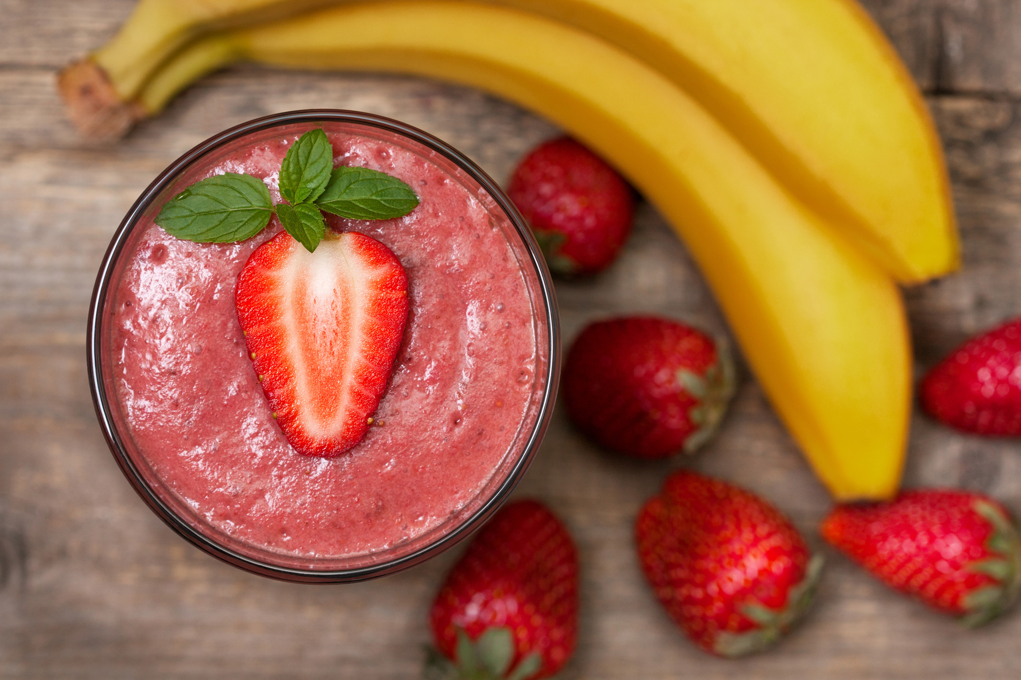 Strawberry Banana Kale Smoothie