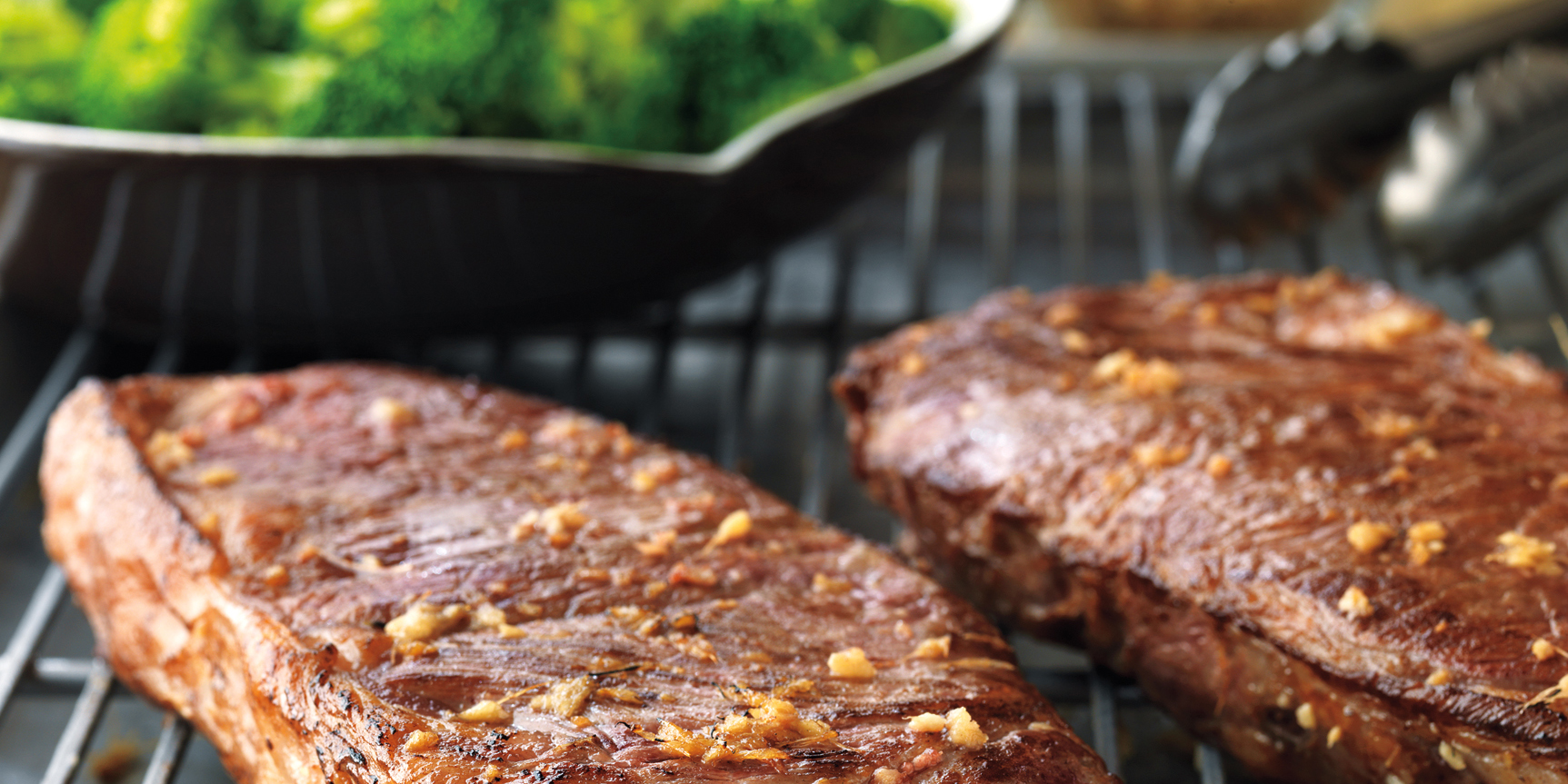 Strip Steaks with Sweet-Soy Drizzle